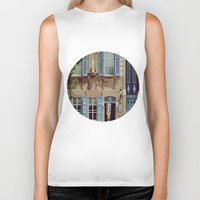 jewish Biker Tanks featuring Blue Shutters in the Sun by Brown Eyed Lady