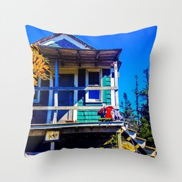Cabot Cabin in Autumn Throw Pillow