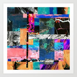 Abstraction - Abstract, textured layers Art Print