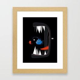 Fish eat fish Framed Art Print