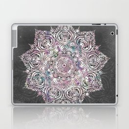 Dreaming Mandala - Magical Purple on Gray Laptop & iPad Skin