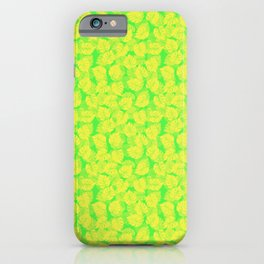 Big Monstera Tropical Leaf Hawaii Rain Forest Lemon Yellow and Lime Green iPhone Case