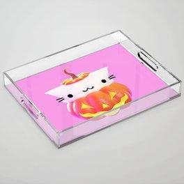 Pumpkin Cat Acrylic Tray
