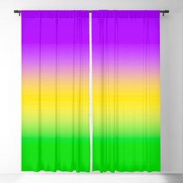 Mardi Gras Ombré Gradient Blackout Curtain