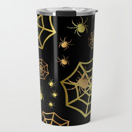 Spiders In Gold Travel Mug