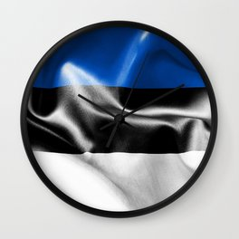 Estonia Flag Wall Clock