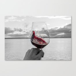 Swirling Red Canvas Print