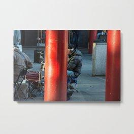 Milano Street musician Metal Print