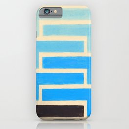 Baby Blue Geometric Pattern iPhone Case