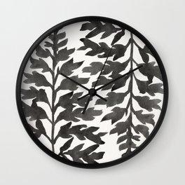 Black Fern Wall Clock