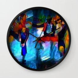 Harlem Renaissance 70's Poppin' and Lockin' African American Dance Portrait Wall Clock