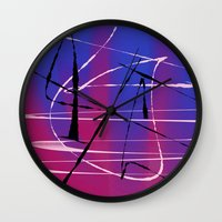tangled Wall Clocks featuring Tangled by Ordiraptus