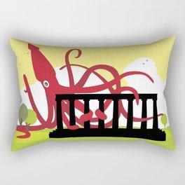Giant Squid Attacks Edinburgh's Acropolis Rectangular Pillow