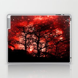 black trees red space Laptop & iPad Skin