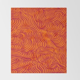 orange red flow Throw Blanket