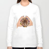 crown Long Sleeve T-shirts featuring CROWN  by SpiritYSol