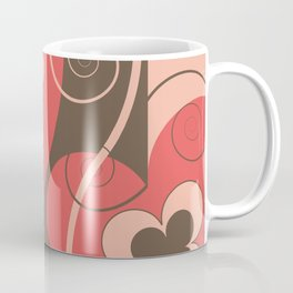 Modern Retro Butterfly Floral Graphic Art Coffee Mug