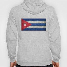 Cuban national flag- vintage retro version Hoody