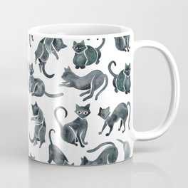 Cat Positions – Black Palette Coffee Mug