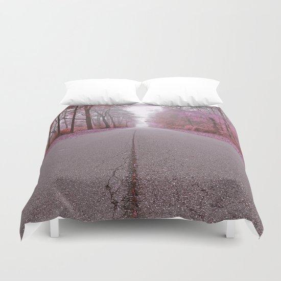 Misty Wonderland Road Duvet Cover