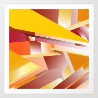 orange pattern Art Prints featuring Orange pattern by sladja