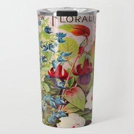 Vintage Flowers Advertisement Collage Travel Mug