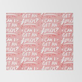 Can I Get An Amen? – Blush Pink Palette Throw Blanket