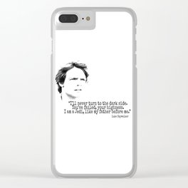 Luke´s Quote Clear iPhone Case