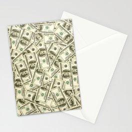 100 dollar bills Stationery Cards
