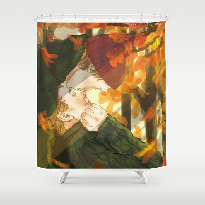 Isak+Even x Autumn Shower Curtain by artvandeley | Society6