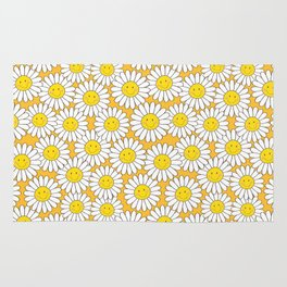 A Crowd of Smiling Daisies Rug