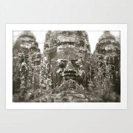 Angkor Wat Historical Park Gates Art Print