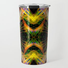 Yellow Bright Rays,Fractal Art Travel Mug