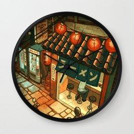 Ramen in the Alley Wall Clock