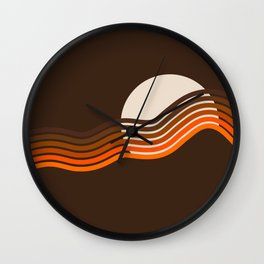 Sundown Stripes Wall Clock