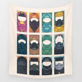 THE VEIL AND THE BEARD - All in One - Without subheads Wall Tapestry