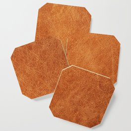 N91 - HQ Original Moroccan Camel Leather Texture Photography Coaster