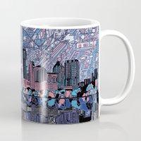 texas Mugs featuring austin texas city skyline by Bekim ART