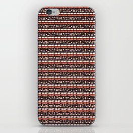 Trendy Brick Red Abstract Drawn Cryptic Symbols iPhone Skin