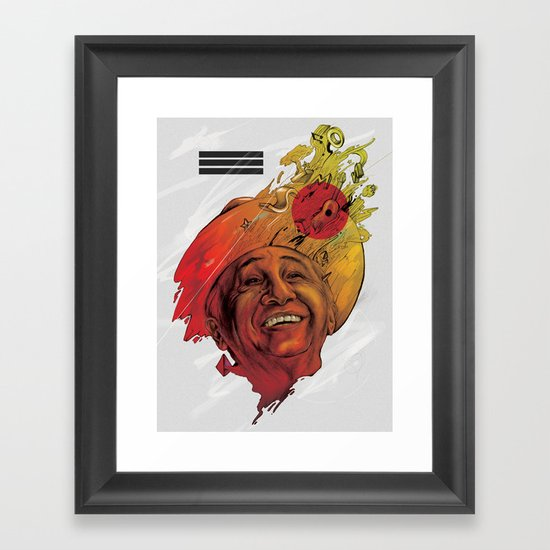 Tío Simón Framed Art Print