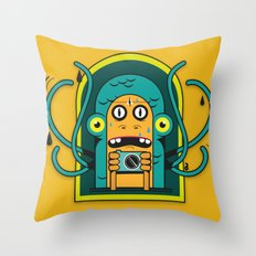 Danger at the moment of the click Throw Pillow