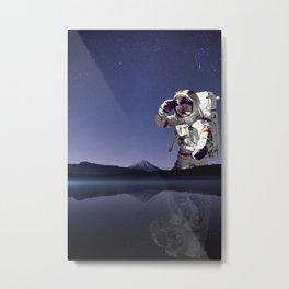 The Giant Astronaut-Mt Rainier Washington State Metal Print