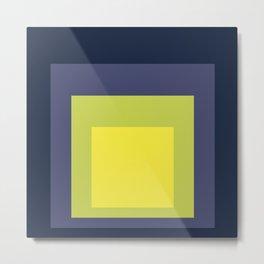 Block Colors - Yellow Green Violet Metal Print