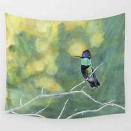 Hummingbird at Dawn Wall Tapestry