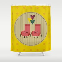 socks Shower Curtains featuring socks by ValoValo