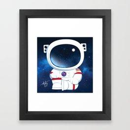 Astro Buddha  Framed Art Print