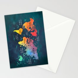 world map 49 color Stationery Cards