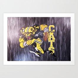 Go Cats Art Print