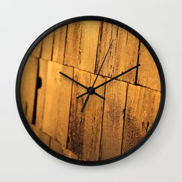 Golden Shingles  Wall Clock