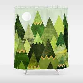Forest Mountains Shower Curtain
